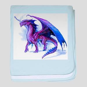 Purple Dragon baby blanket