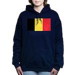 Belgium Flag Women's Hooded Sweatshirt