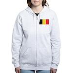 Belgium Flag Zip Hoodie