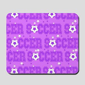 Purple Soccer Girl Mousepad