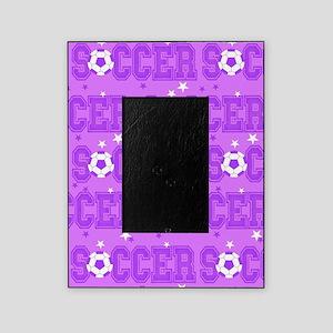 Purple Soccer Girl Picture Frame