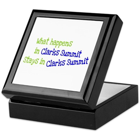 What Happens In Clarks Summit Keepsake Box