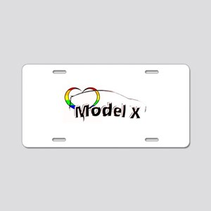 Model X Pride Aluminum License Plate