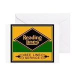 Reading Bee Lines Greeting Card