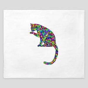 Primsatic Rainbow Cleaning Cat King Duvet