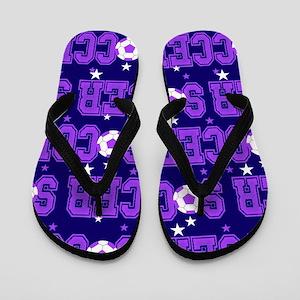 Soccer Girls Flip Flops