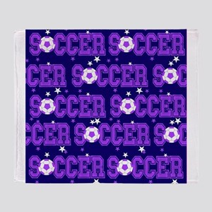 Soccer Girls Throw Blanket
