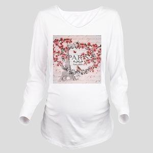 Paris spring Long Sleeve Maternity T-Shirt