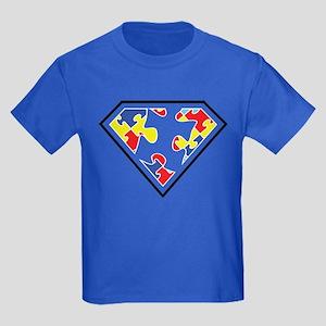Autism is my Super Power Kids Dark T-Shirt