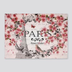 Paris spring 5'x7'Area Rug