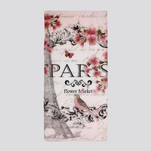 Paris spring Beach Towel