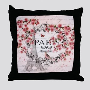 Paris spring Throw Pillow
