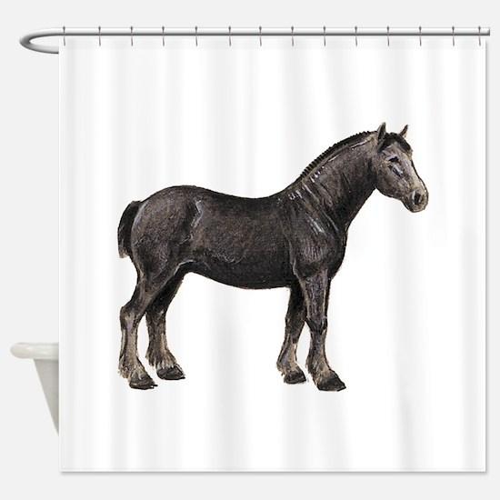 Percheron Horse Shower Curtain