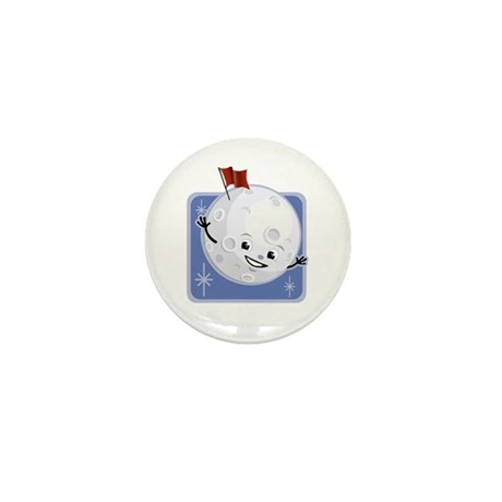 Flag on the Moon Mini Button (100 pack)