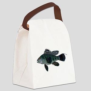 Black Sea Bass (Atlantic) Canvas Lunch Bag