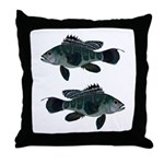 Black Sea Bass (Atlantic) Throw Pillow