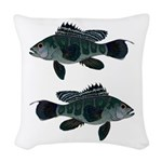Black Sea Bass (Atlantic) Woven Throw Pillow