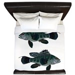 Black Sea Bass (Atlantic) King Duvet