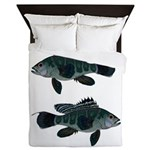 Black Sea Bass (Atlantic) Queen Duvet