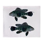 Black Sea Bass (Atlantic) Throw Blanket