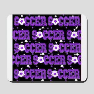 Black Soccer Girls Mousepad