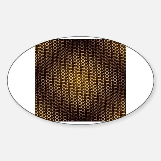 Unique Honey bee clipart Sticker (Oval)