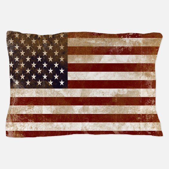 Distressed American Flag2 Pillow Case