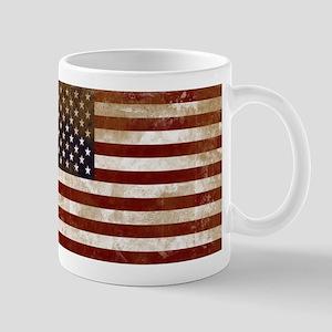 Distressed American Flag2 Mugs