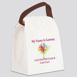 Naughty Gammy Canvas Lunch Bag