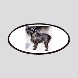 brussels griffon black full Patch