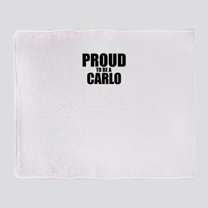 Proud to be CARLO Throw Blanket