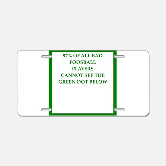 foosball Aluminum License Plate