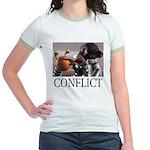 Conflict Jr. Ringer T-shirt