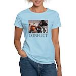 Conflict Women's Pink T-Shirt