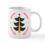 Folk Art Christmas Trees Mugs