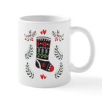 Folk Art Christmas Stockings Mugs