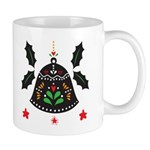 Folk Art Christmas Bells Mugs