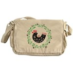 Folk Art Christmas Bird Messenger Bag
