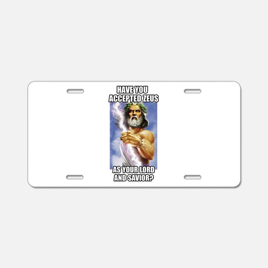 Zeus Aluminum License Plate