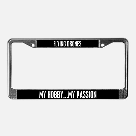 Flying Drones License Plate Frame
