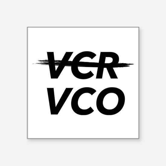 Vcr Vs Vco Sticker