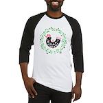 Folk Art Christmas Bird Baseball Jersey