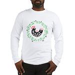 Folk Art Christmas Bird Long Sleeve T-Shirt