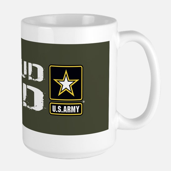 U.S. Army: Proud Dad (Military Green) Large Mug