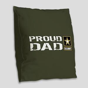 U.S. Army: Proud Dad (Military Burlap Throw Pillow
