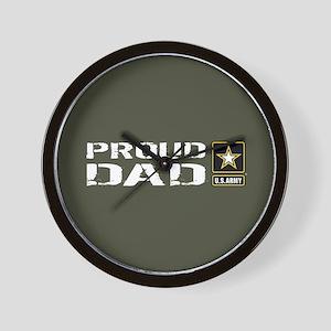 U.S. Army: Proud Dad (Military Green) Wall Clock