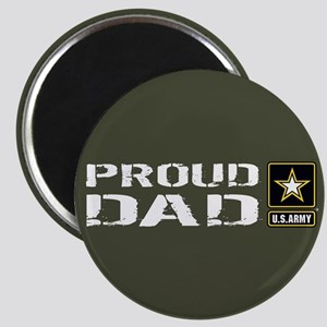 U.S. Army: Proud Dad (Military Green) Magnet