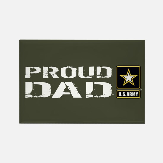 U.S. Army: Proud Dad (Military Gr Rectangle Magnet