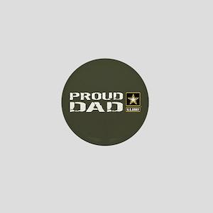U.S. Army: Proud Dad (Military Green) Mini Button