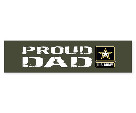 U s army proud dad military gr sticker bumper